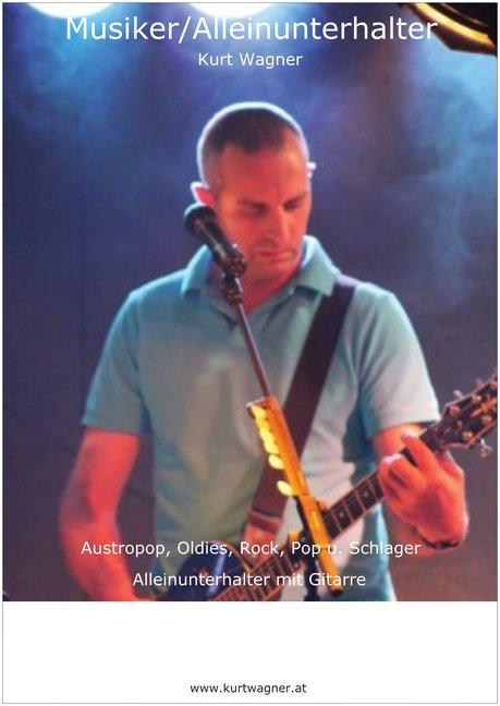A3 Plakat von Kurt Wagner für die Ankündigung von Auftritten