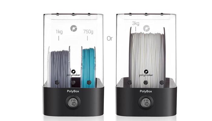 Soluciones como la de PolyBox ayudan a mantener los filamentos fuera de la humedad