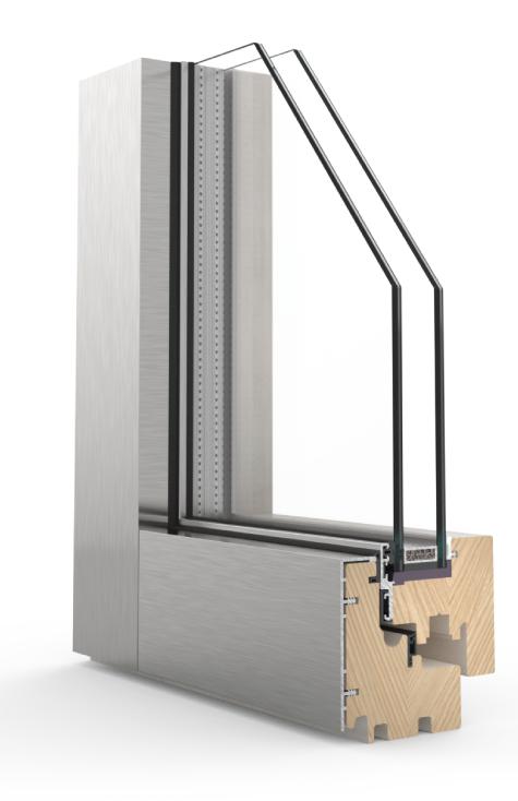 Infissi legno alluminio oikeo porte finestre infissi for Prezzi finestre alluminio