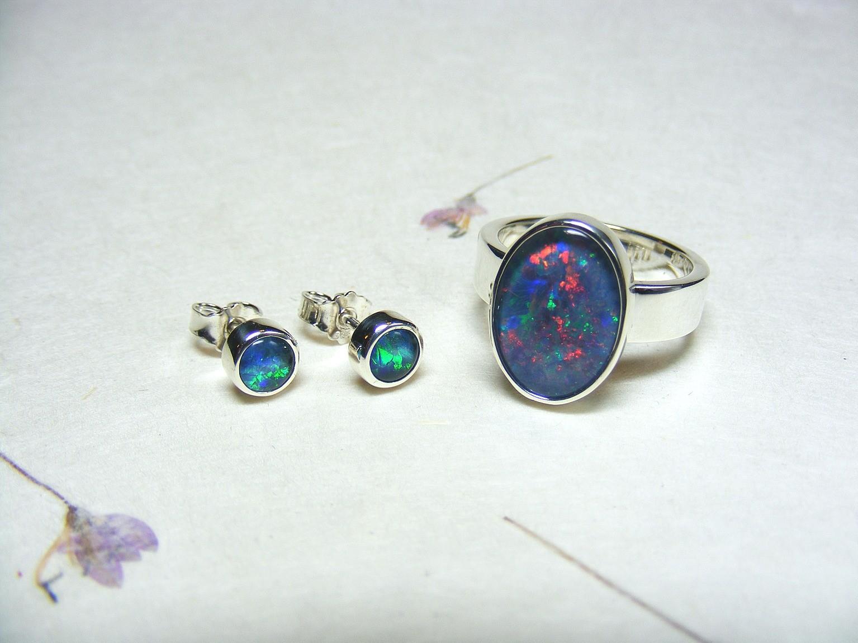 zilver en opaaltripletten