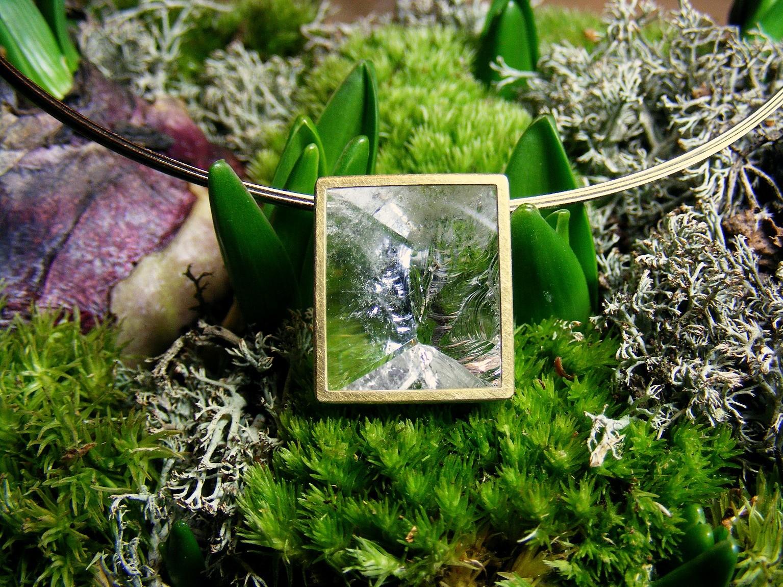 14kt geelgoud en bergkristal