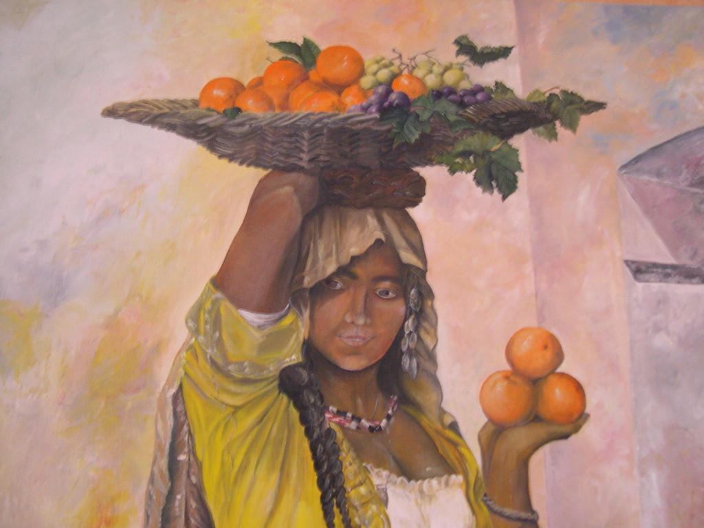 Porteuse d'oranges (détail)