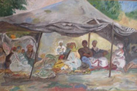 Nomades sous la tente Henri Clamens