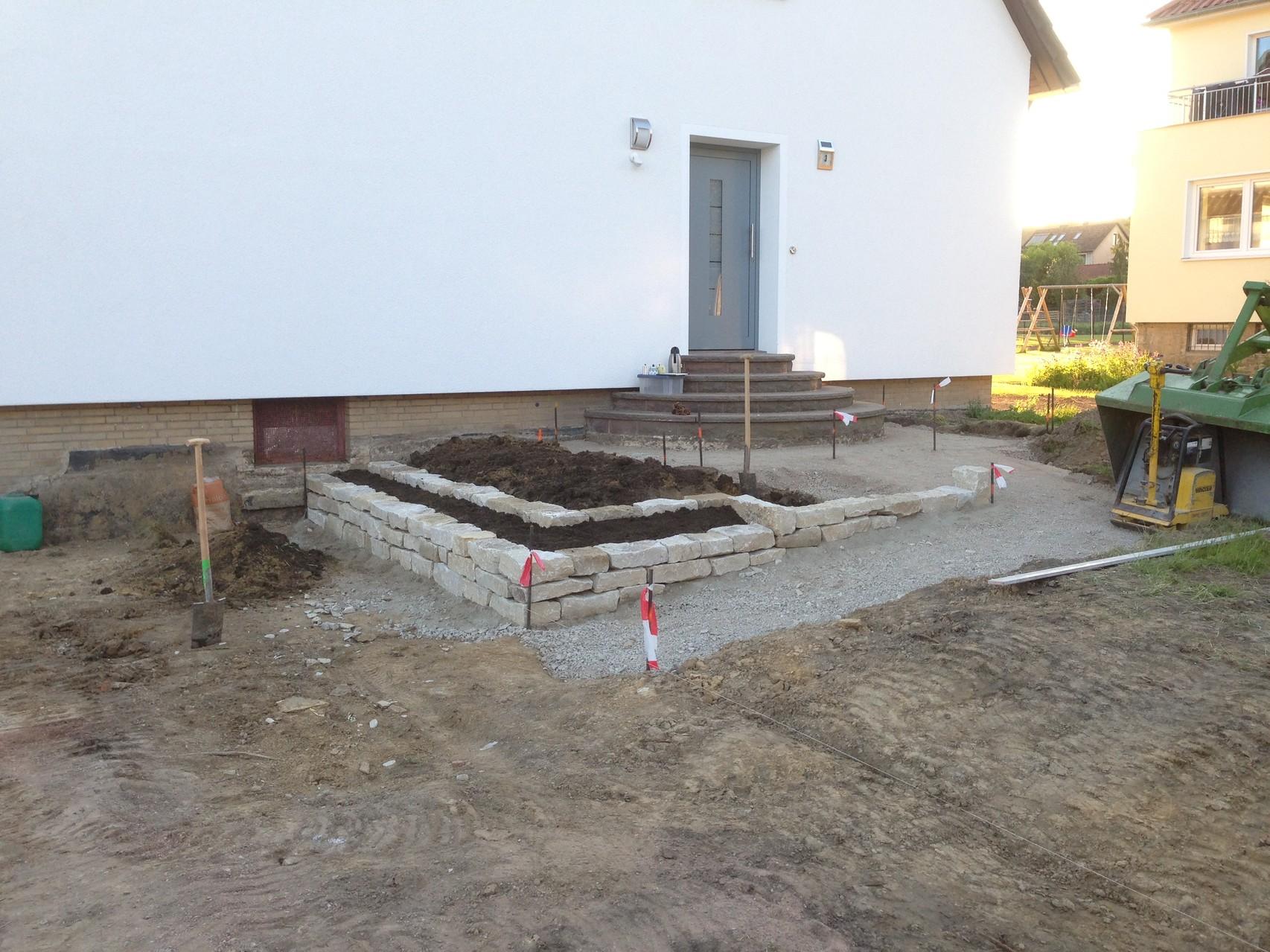 Umgestaltung einer Außenanlage