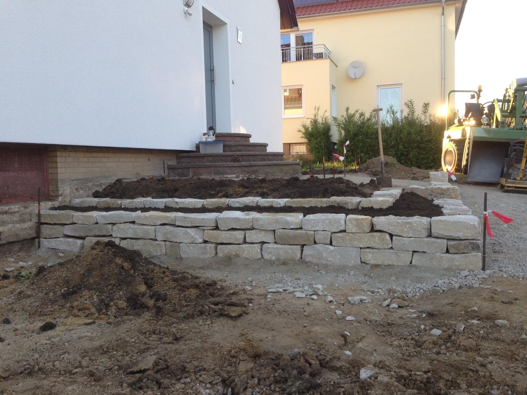 Erstellung einer Trockenmauer