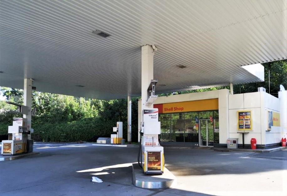 Aufgelassene Shell-Tankstelle, Graz, Bergmanngasse. Copyright: 2019 Reinhard A. Sudy