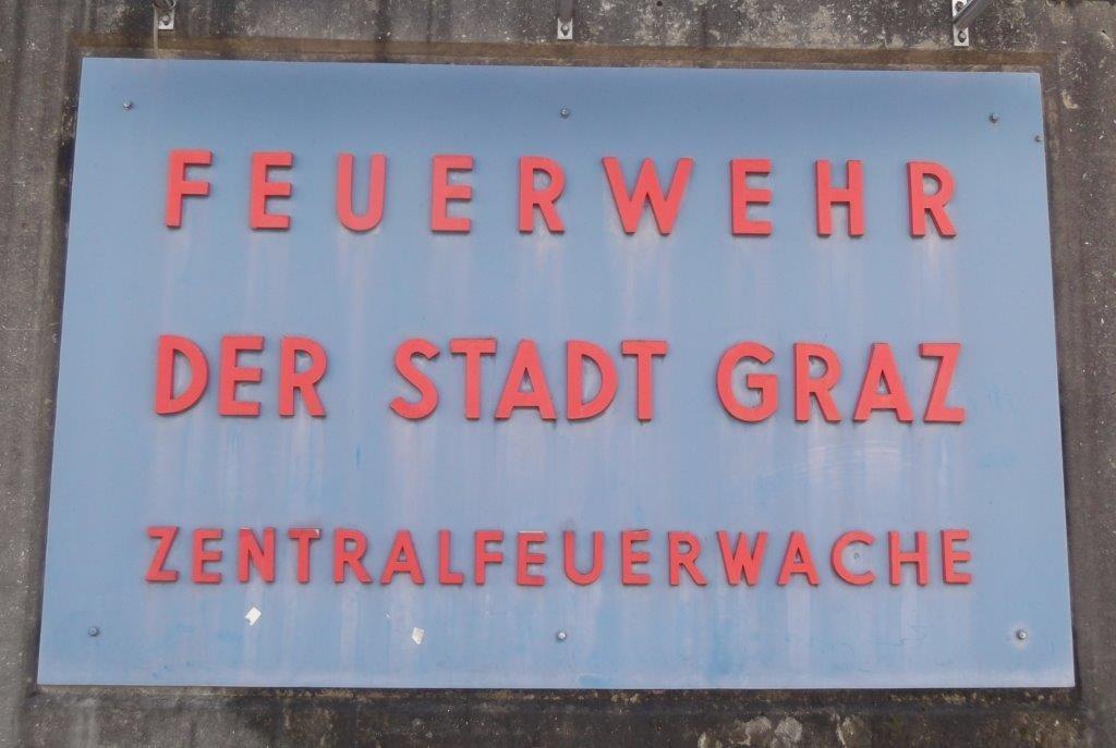 Feuerwehr der Stadt Graz. Zentralfeuerwache am Lendplatz. © Reinhard A. Sudy