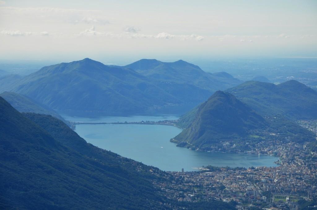 Il Golfo di Lugano TI, dal Monte Bar (1'620msm)