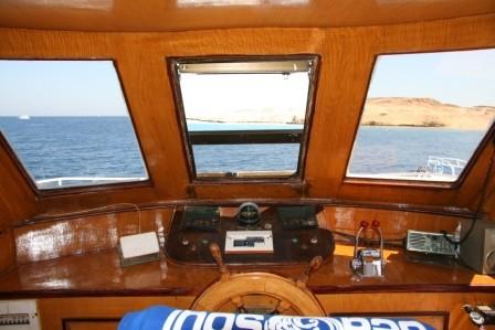 La cabina della barca in nostra dotazione