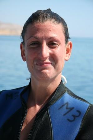 Irene al termine del proprio battesimo subacqueo...sembrerebbe le sia piaciuto! ;-)