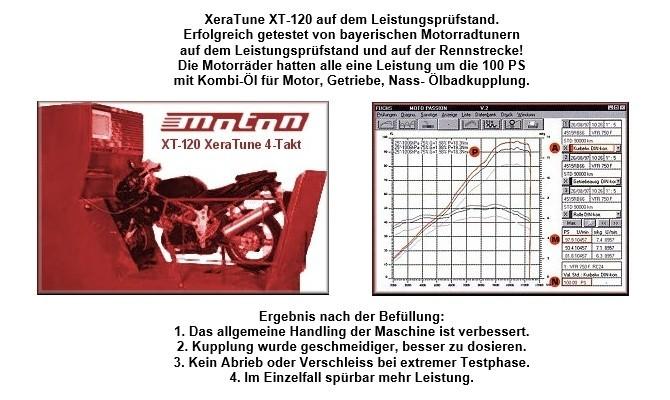 XeraTune XT-120 Keramik Additiv für 4-Takt-Motorrad mit Ölbad- / Nasskupplung