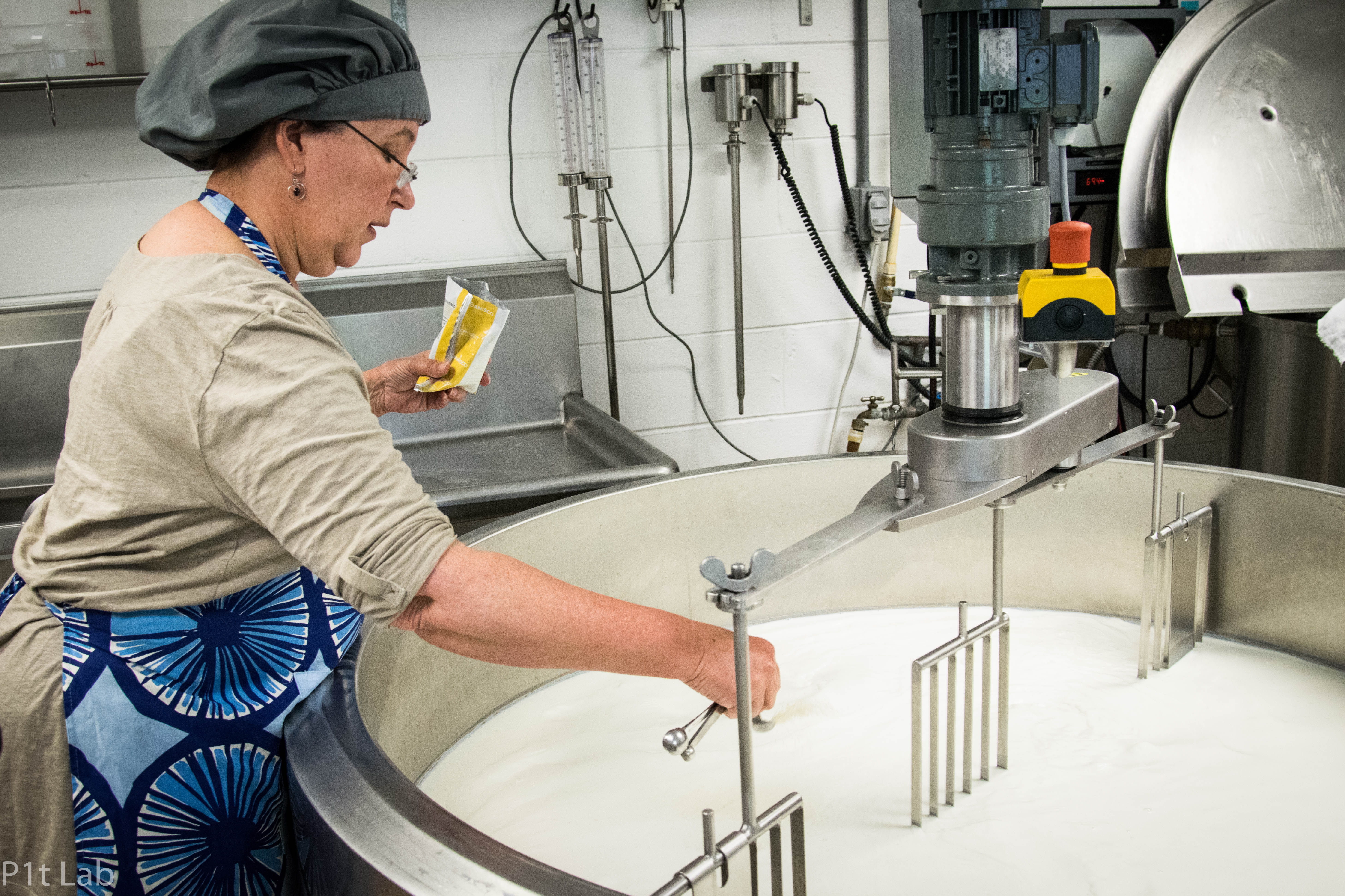 Stirring the milk