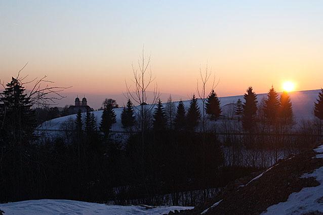 Sonnenuntergang bei St. Märgen