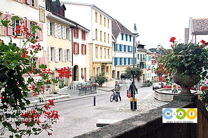 Stimmungsvolle Altstadt von Boudry