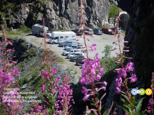 Parkplatz am Lac de Dix (Wallis)