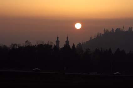 Sonnenuntergang bei St. Peter