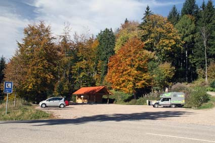 Wanderparkplatz bei Marzell