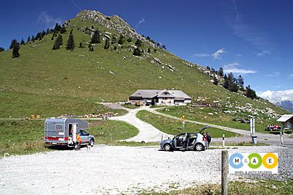 Bergwandern am Col de Jamon