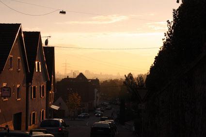 Sonnenuntergang in Kirchhofen