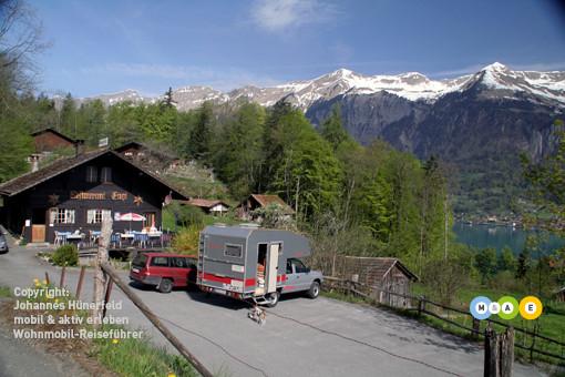 Gasthaus Enge oberhalb des Brienzer Sees