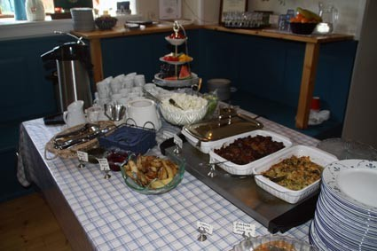 Lunchbuffet in Island