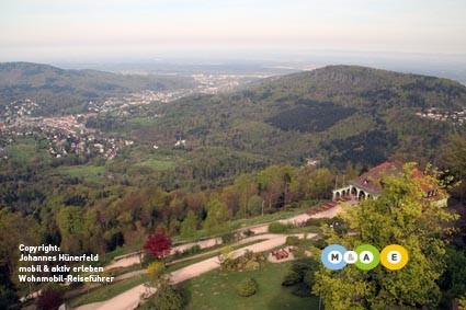 Blick vom Merkur auf Baden-Baden