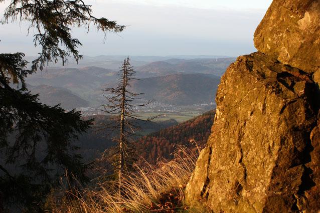 Kandelfelsen - Blick auf Waldkirch und Kollnau