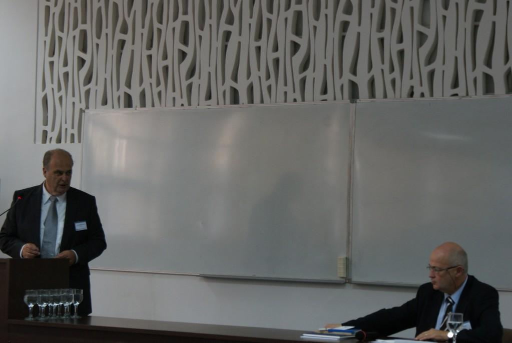Senator E.h. Hans Beerstecher, Vorstandsvorsitzender der Donauschwäbischen Kulturstiftung des Landes Baden-Württemberg