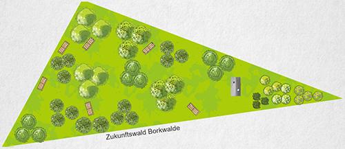 So könnte das Grundstück nach den Neupflanzungen aussehen