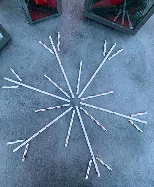 wir beteiligen uns auch gern mit einer Schneeflocke aus Strohhalmen... | Fam. P.
