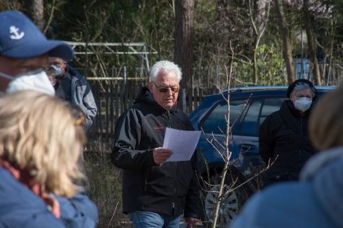 Gerhard Schubert bei der Rede zum Start des Projekts Zukunftswald