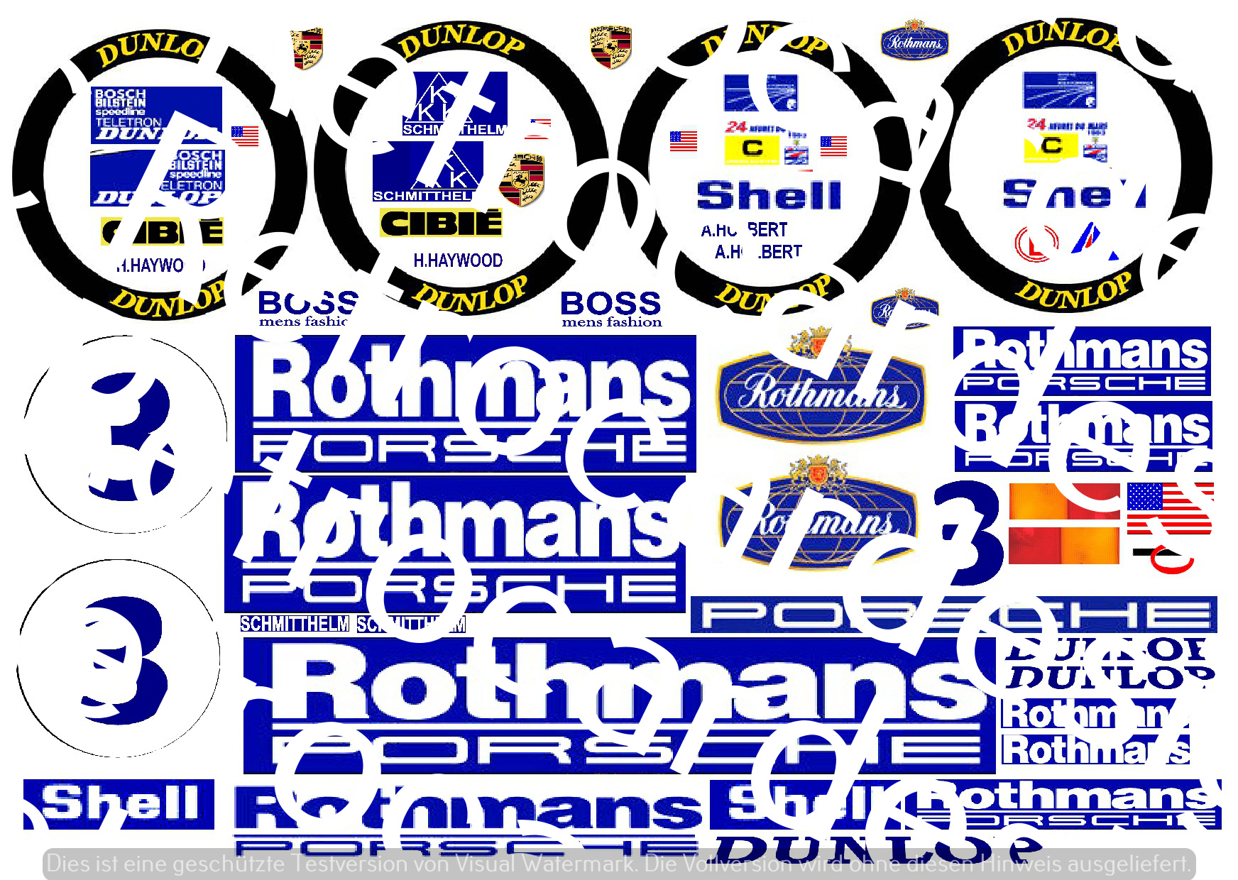 D172 PORSCHE ROTHMANS 24H of Lemans