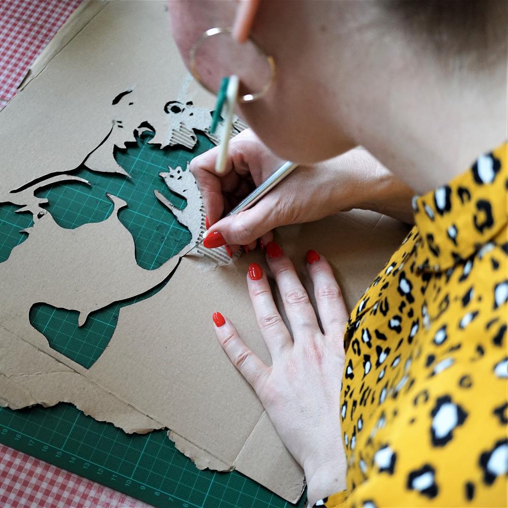 Handcut Stencil