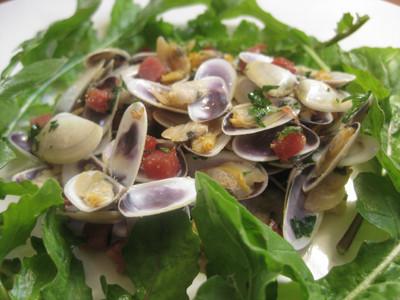 Tellines au jambon en salade