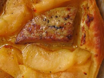 Tarte tatin de foie gras à la Cambacérès