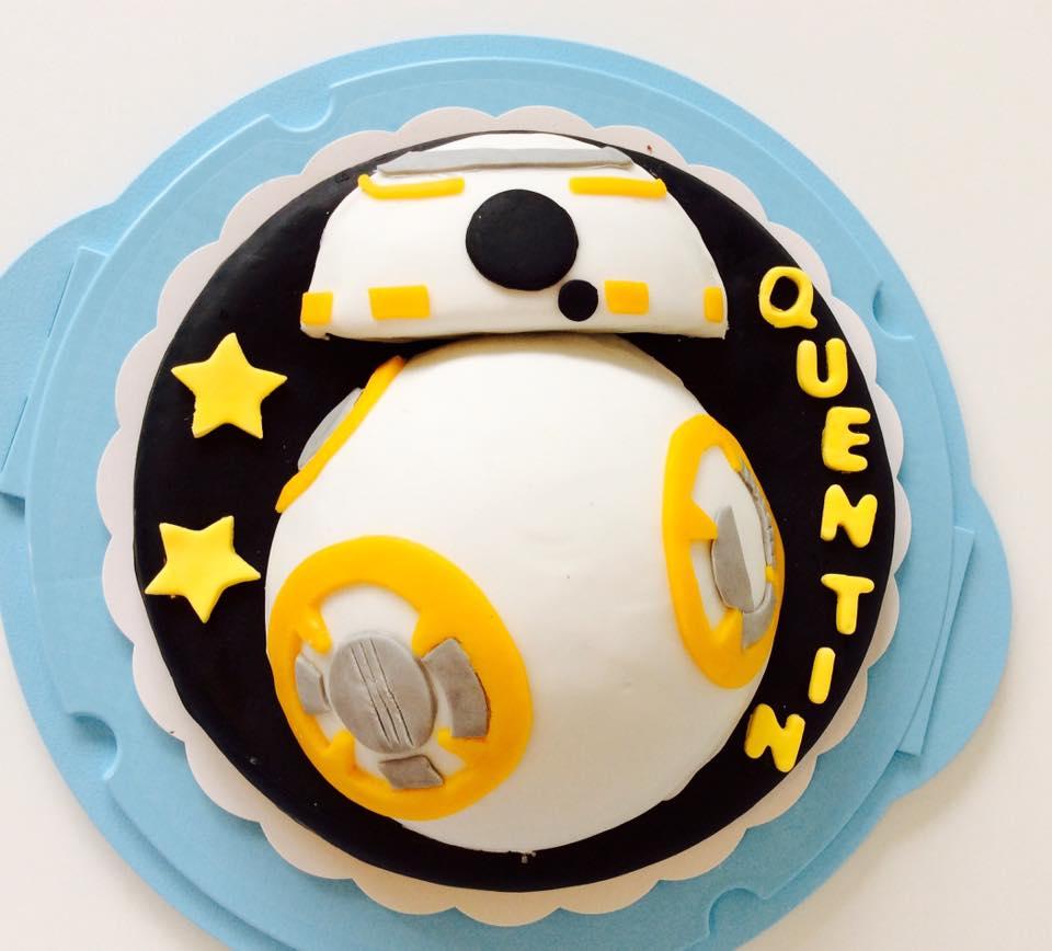Gâteau BB8 Star wars