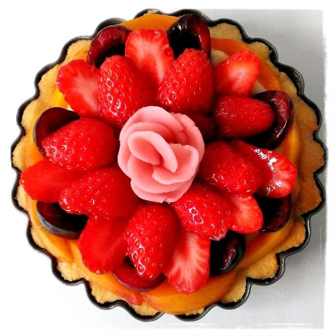 Tartelette fraises-cerises