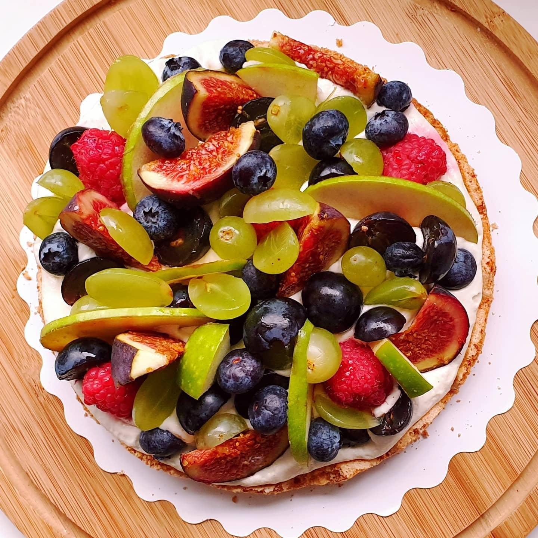 Parfait aux fruits d'automne raisins figue