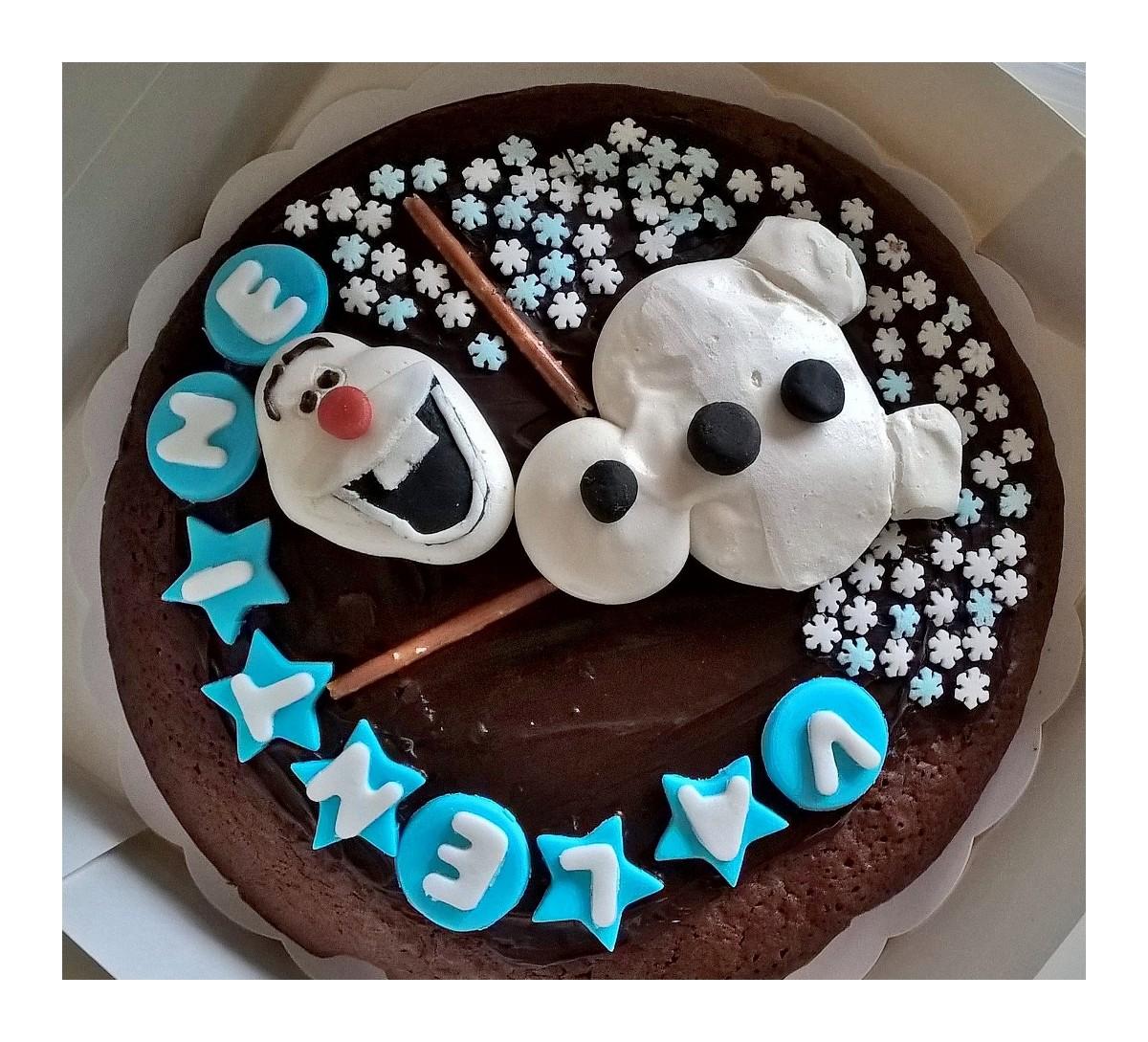 Gâteau Olaf Reine des neiges