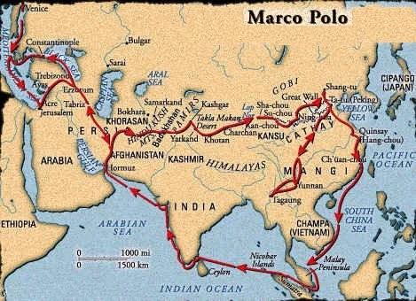 viaggio di Marco Polo nell'oriente