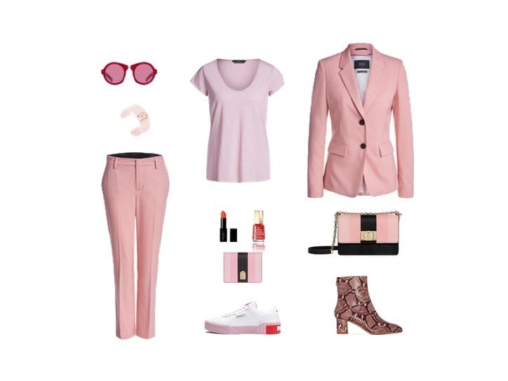Wie Softeis: damit das Outfit nicht zu süß wird dürfen die tollen Zweiteiler auch eine mini- Prise Pfeffer in Form von Kontrast erfahren – Schuhe oder Accessoires sind probate Helfer