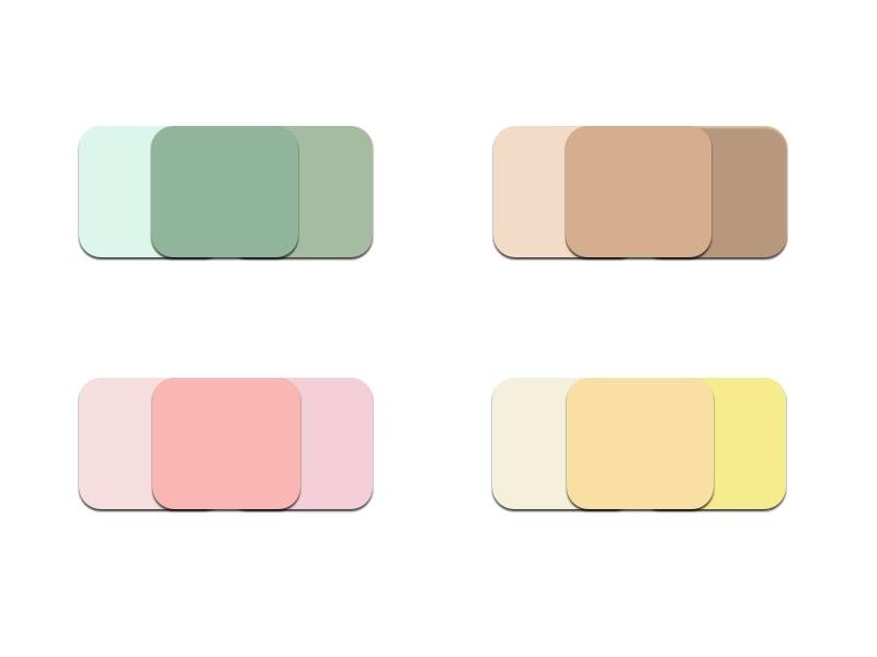 Die Pudrigen: sind die stillen Frühlingslieblinge, Hellblau, Butter bis Zitronengelb, Rosa oder Jade Töne am besten Monochrom