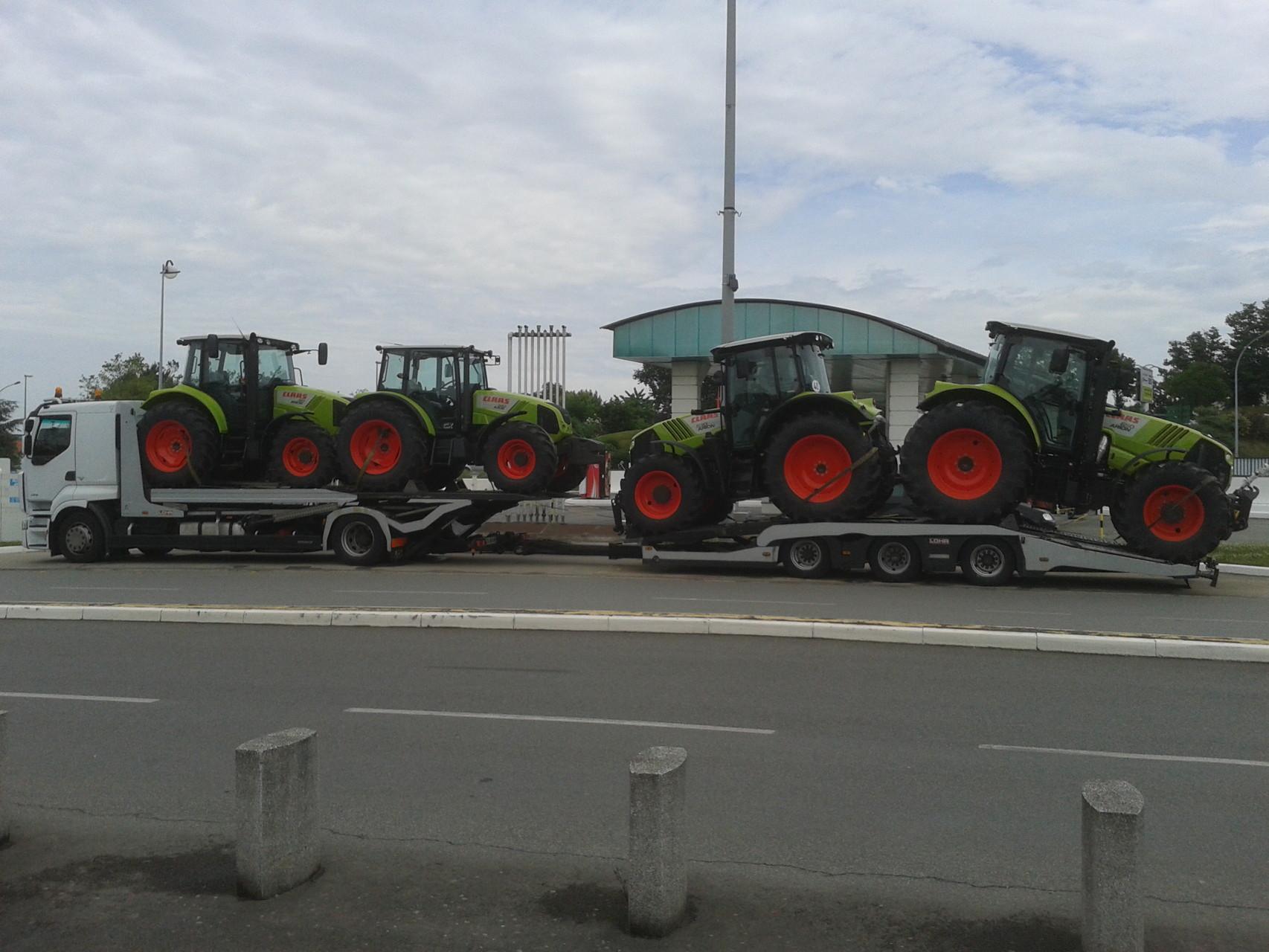 Transport de tracteurs
