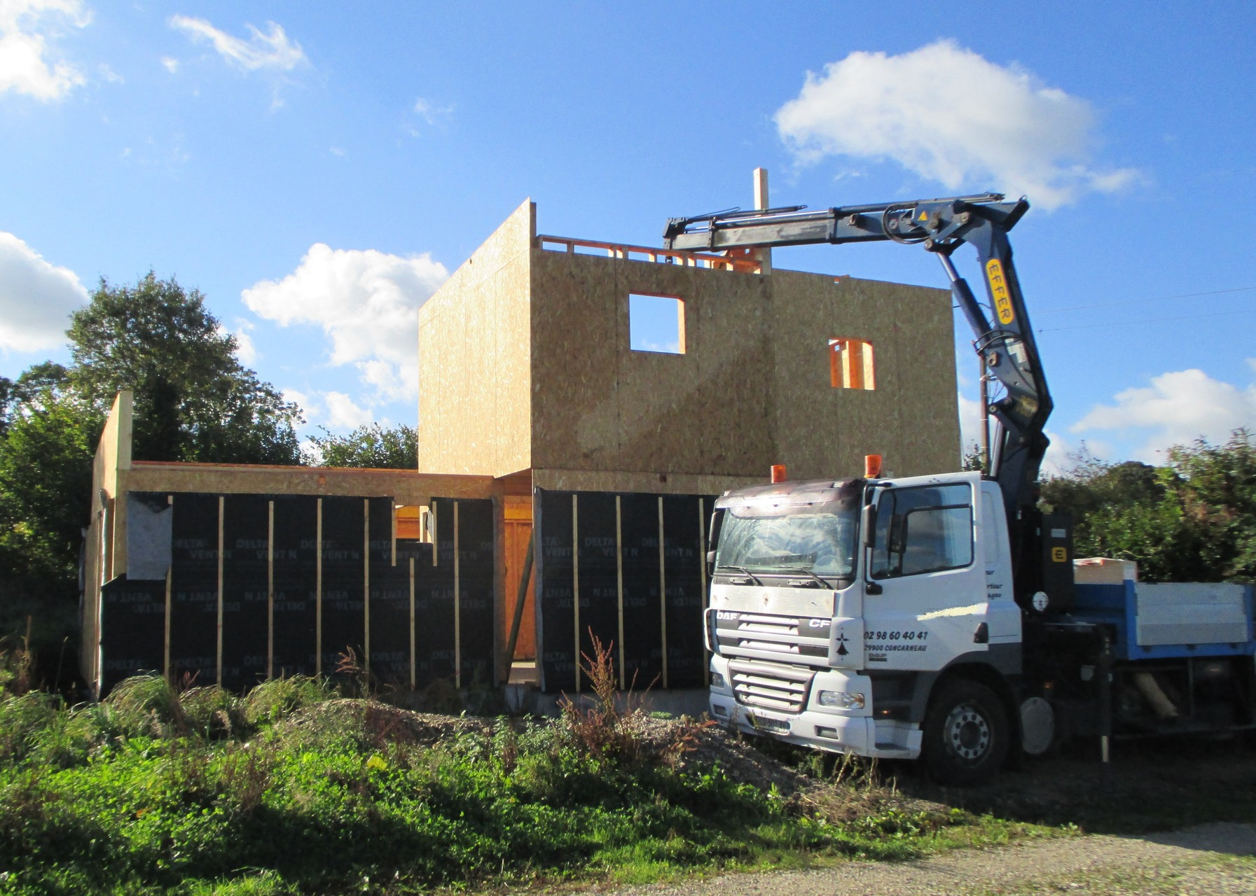 Manutention chantier - Maison bois