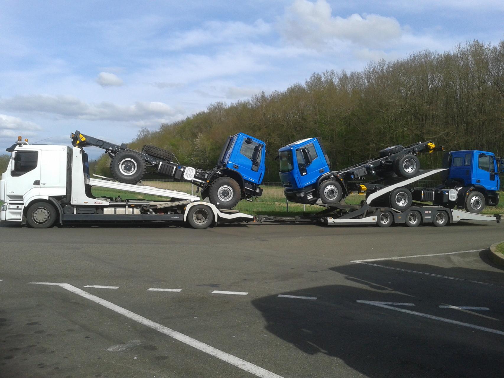 Transport de chassis cabine pour EDF