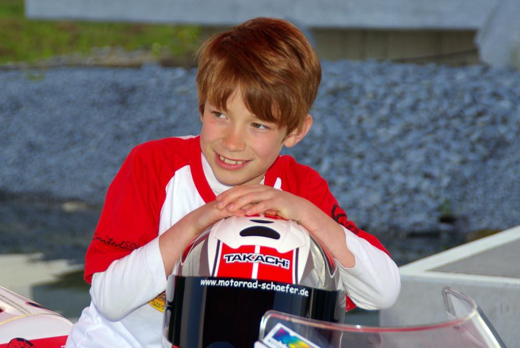 Aaron unser Bühli ADAC Minibikecup Fahrer