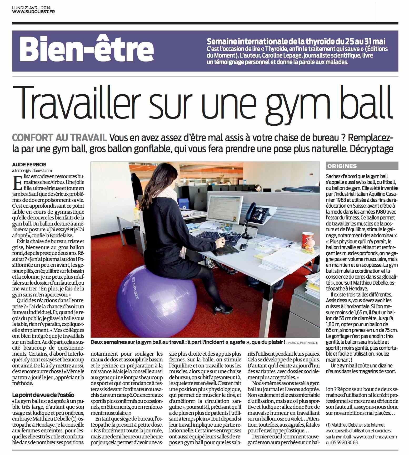 Swiss Ball Et Osteopathie A Hendaye
