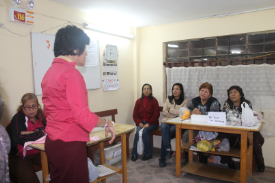 Workshops and trainings with women from economically weak southern periphery of Lima