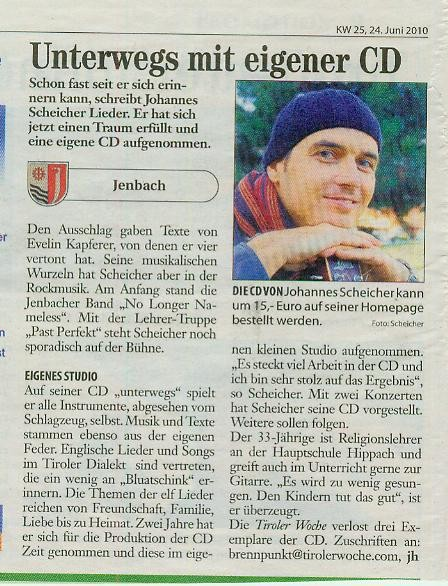 Interview in der Tiroler Woche