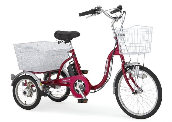 大人用三輪自転車の電動アシストつき。フランスベッドのリハテック!